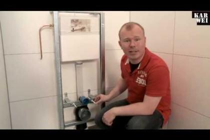 Zelf een hangend toilet met inbouwreservoir installeren