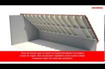 Zelf een schuin dak isoleren