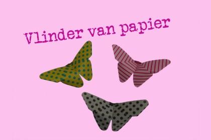 zelf een origami vlinder vouwen